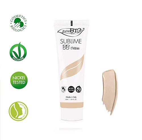 PuroBIO Certified Organic Long-Lasting Anti-Aging BB Cream Color 01 Light - for All Skin Types. Contains Sage, Olive Oil, Apricot Oil, Shea Butter. ORGANIC. VEGAN. NICKEL TESTED. MADE IN ITALY 1 fl.oz