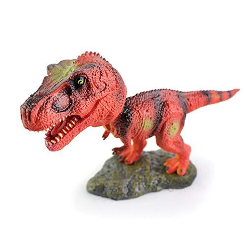 Tinsow Lovely Lifelike Bobble Head T Rex, Triceratops, Ankylosaurus, Parasaurolophus, Dinosaur Toy Figures - Creative Head Rocking Car Toy Ornaments for Dinosaur Lovers (T Rex)