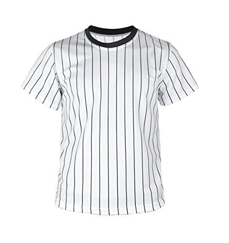 myglory77mall Crewneck Pinstripe Baseball Coolmax Dryfit tshirts Jersey US 2XL(3XL tag) Black