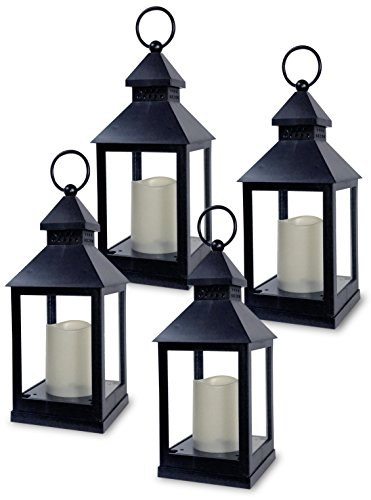 - BANBERRY DESIGNS Decorative Lantern - Set of 4-5 Hour Timer - 11