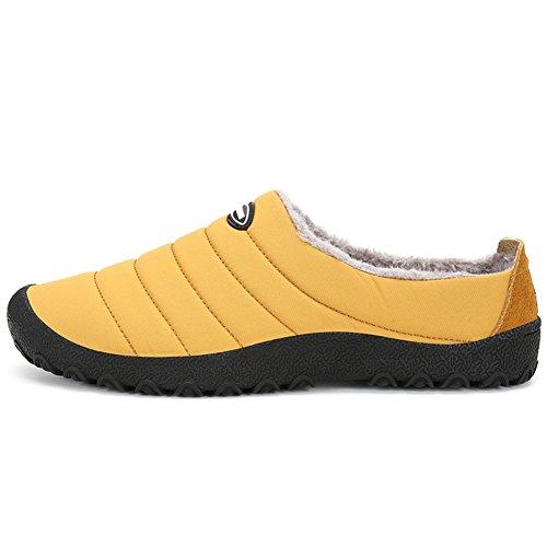 Slip Men Ankle Outdoor Women Shoes Yellow amp;Indoor Unitsex Warm Non Waterproof Snow Boots Cotton Slipper Wealsex 7SqYBwTd7