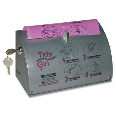 Stout TG-DISP Tidy Girl Plastic Feminine Hygiene Disposal Bag Dispenser, Gray by Stout (Disp Bags)