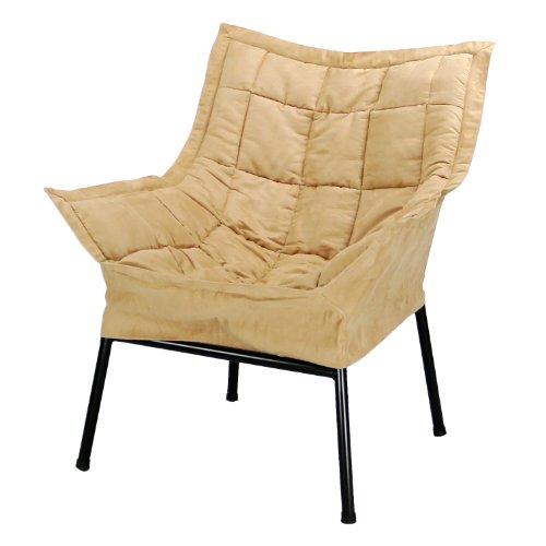 Casual Home Milano Metal Chair, Black Metal Frame with Tan O