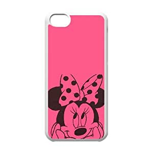 iPhone 5c Cell Phone Case White Disney Mickey Mouse Minnie Mouse Kbjjz
