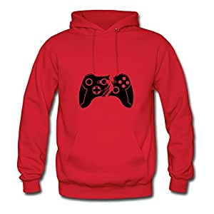Broken Controller Image Style Personality : X-large Womenhoodies Red- Made In Good Quality.