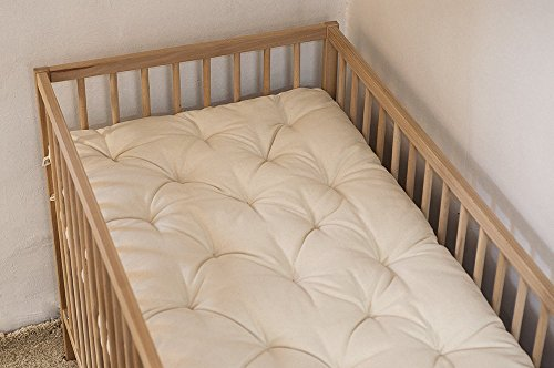 Wool-Filled Topper / Crib or Cot Size / Chemical-free 2'' Pillowtop / Non-Toxic Nursery Bedding / Oeko-Tex Certified Wool Filling / Cotton, Linen, Natural Silk, Lambswool Cover / Custom Sizes Available by Home Of Wool