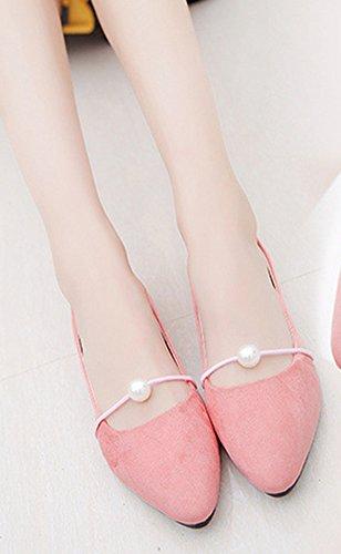 Femme Aisun Talon Rose Danse Perle Ballerines Plat Chic z77wdq