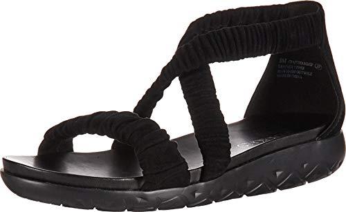 Suede Aerosoles Sandals (Aerosoles Women's CRAFTMANSHIP Sandal, Black Suede, 8.5 M US)