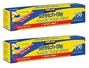 Wrap Stretch Tite Food (Kirkland Signature Stretch Tite Plastic Food Wrap 11 7/8 Inch X 750 SQ. FT. (2 Pack))