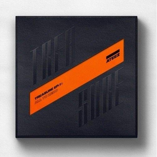 ATEEZ - [Treasure EP.1:All to Zero]1st CD+1p Poster/On+100p Booklet+1p Sticker+8p Post+3p PhotoCard+Tracking (Original Version)