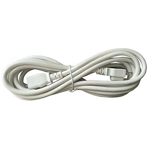 BYBON 15FT 18 AWG SJT Universal Power Cord NEMA 5-15P to C13,Computer/Printer Cord,White,UL listed.