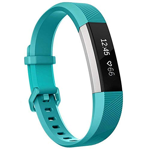 Teal Band - Henoda Compatible with Fitbit Alta/Fitbit Alta HR Bands, Small Teal Soft Replacement Band Adjustable Sport Strap Compatible for Fitbit Alta/Fitbit Alta HR/Fitbit Ace Fitness Wristbands
