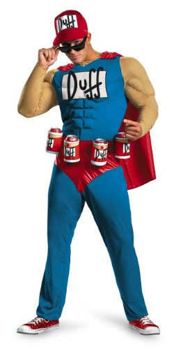 Good Halloween Costume College Guys (Disguise Unisex Adult Classic Muscle Duffman, Multi, XX-Large (50-52))