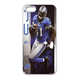Yearinspace Calvin Johnson IPhone 5,5S Cases Calvin Johnson Poster Hardshell For Girls, Cell Phone Case For Iphone 5s, {White} by tigerbrace