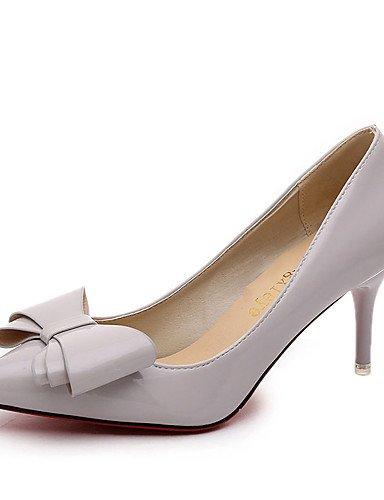 GGX/ Damen-Cloggs & Pantoletten-Kleid / Lässig-PU-Kitten Heel-Absatz-Geschlossene Zehe-Schwarz / Rosa / Rot / Grau pink-us5.5 / eu36 / uk3.5 / cn35