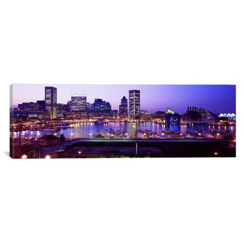 iCanvasART Inner Harbor Baltimore, Maryland, USA by Panoramic Images Canvas Art Print, 36 by - Harbor Inner Gallery
