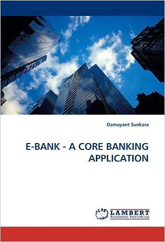 E-BANK - A CORE BANKING APPLICATION: Damayant Sunkara