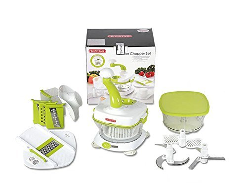 Konstar Multi Master Chopper Set Slicer Food Processor Liquidizer Crusher Crushing Ice Mince Chop Slicer Blender