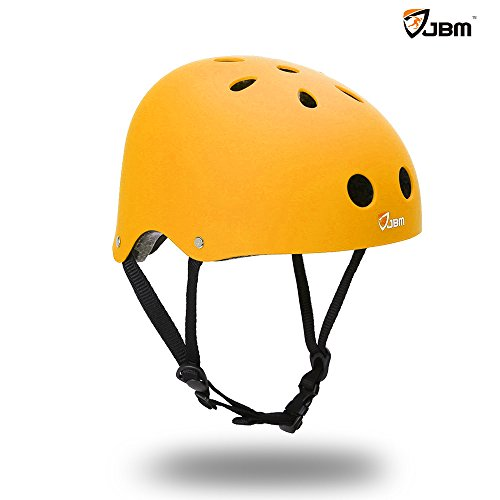 JBM international EPS foam Skateboard Helmet (Yellow, Large)