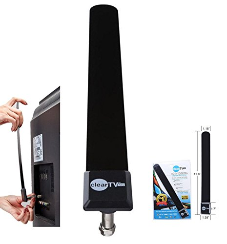 Clear TV Key Digital Indoor Antenna Stick - Pickup More Channels with HDTV Signal Receiver Antena Booster (Number & Quality of Channel Pickup Depends on Living Area)- Full 1080p HD - Easy Installation
