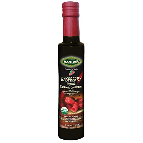 Mantova Organic Balsamic Vinegar, Raspberry, 8.5 Pound (Salad Vinegar)