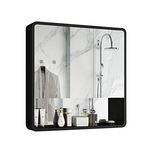 Peaceip US Bathroom Wall Cabinet Wall Mounted Solid Wood Mirror Cabinets with -