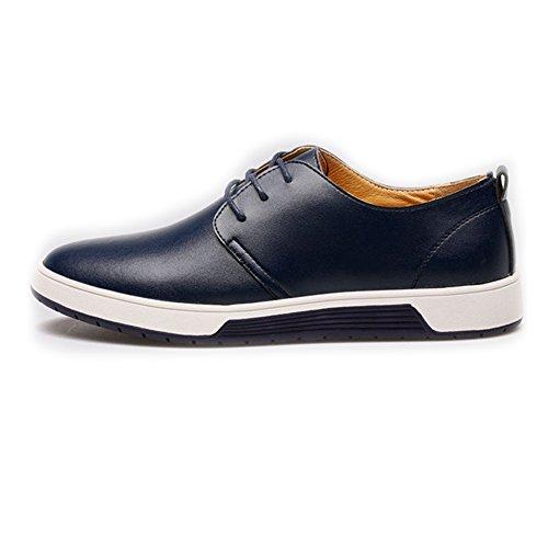 in 2018 shoes opzionale Scarpe stringate EU Jiuyue Color uomo pelle perforata Scarpe Classiche da con tomaia Pelle traspiranti Blu lacci Blu 43 Dimensione PU Uomo 5qdtwZwx