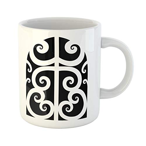 Tinmun 11 Oz Coffee Mug Abstract Tattoo Maori Designs Tribal Sketch of Idea Arm Decor Lover Funny Mug Birthday Gift Coffee Tea Cup Mugs