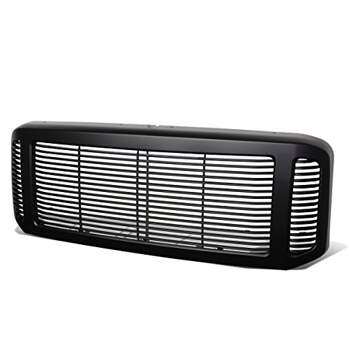 Abs Grill Vertical (Ford F250-F550 Super Duty Black Precise Fit Vertical Fence Full ABS Front Grille / Grill Guard)