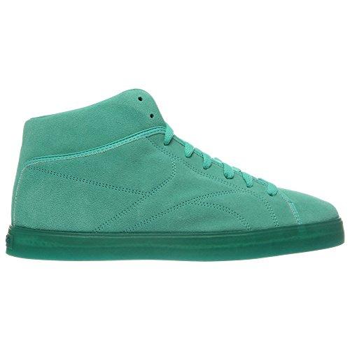 Reebok T Raww Hommes Vert Cuir Chaussures Baskets décontractées