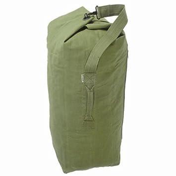 HEAVY DUTY MILITARY GREEN CANVAS ARMY KIT BAG/HOLDALL: Amazon.co ...