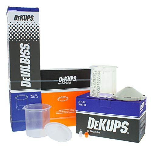 DeVILBISS DeKUPS 34 oz STARTER KIT-HVLP Spray Paint Gun
