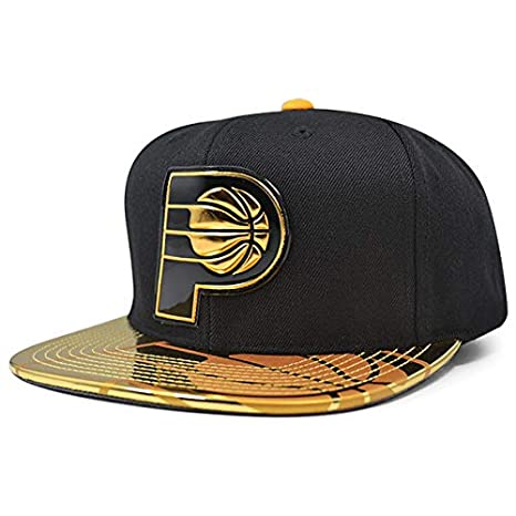 new photos 1ecf2 613cd Image Unavailable. Image not available for. Color  Mitchell   Ness Indiana  Pacers Team Standard Snapback NBA Adjustable Hat ...