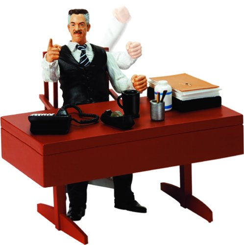 Spider Man J Jonah Jameson With Desk Pounding Action