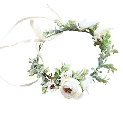Vivivalue Boho Flower Crown Flower Garland Headband Hair