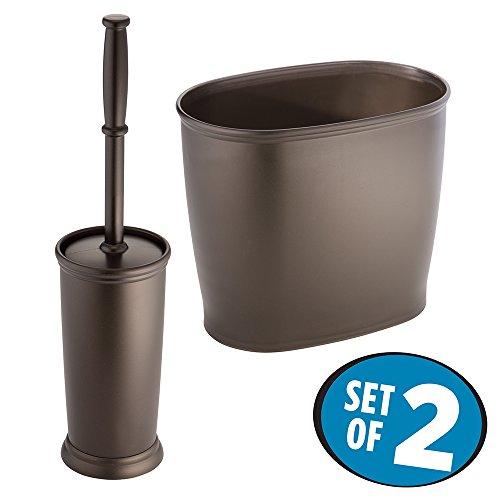 mDesign Toilet Brush Wastebasket Bathroom