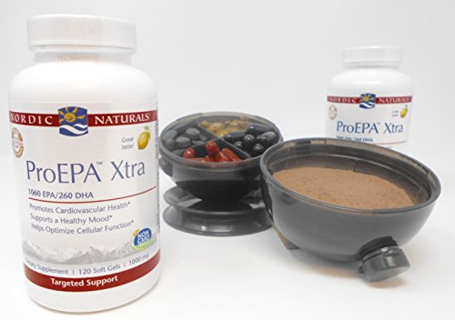 Nordic Naturals - ProEPA Xtra 1,000 mg - 120 Soft Gels (2-Pack) Viita Ball Bundle by Nordic Pure