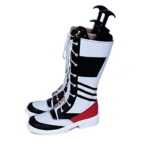 Xcoser Anime Cosplay Harley Quinn Lacing Boots Shoes