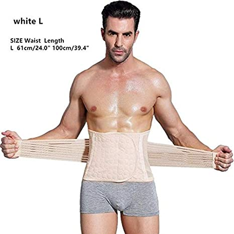 259d44bbd49f2 Clinivex Men Body Shaper Corset Abdomen Tummy Control Waist Trainer Cincher  Fat Burning Girdle Slimming Belly Belt for Male face  white L  Amazon.in   Beauty