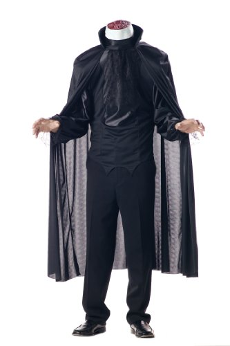 [California Costumes Men's Headless Horseman Costume, Black, Medium] (Black Men Halloween Costume)