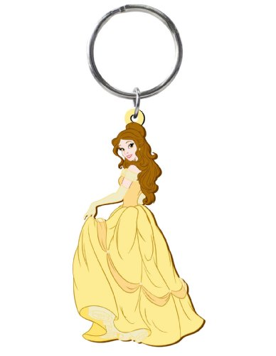 Pvc Key Ring - Disney Belle Soft Touch PVC Key Ring