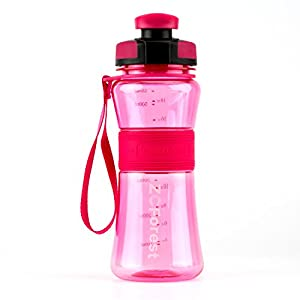 ZCForest 18oz 550ml Wide Mouth BPA-Free Portable Travel Sports Water Bottles --pink