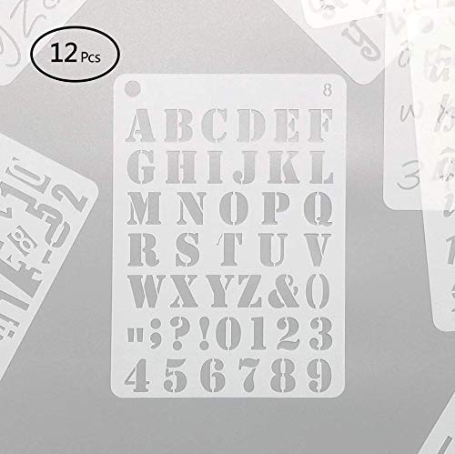 Letter Stencils for Painting Bullet Journal Stencil Vinyl Alphabet