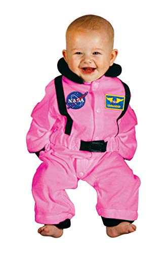 Aeromax ASP-Romp Astronaut Suit with NASA Patch, 6 - 12 Months, Pink -