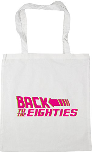 10 Gym White 42cm eighties to litres Beach Shopping Bag Back x38cm HippoWarehouse Tote the qAPPWY