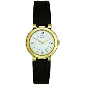 Coach Men's 14600046 Gramercy Leather and Gold Plated Watch