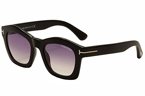 Tom Ford TF431 01Z Black Greta Square Sunglasses Lens Category 2 Lens - Ford Sunglasses Square Tom