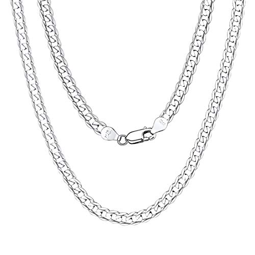 Boys Girls 5mm Italian Cuban Chain Solid 925 Sterling Silver Jewelry Curb Link Necklace 22