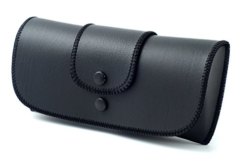 Soft Eyeglass Case Faux Leather, Attaches to Belt, Horizontal - Faux Eyeglasses