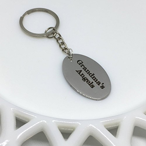 Grandma's Angels Engraved Keychain (Angel Engraved Keychain)